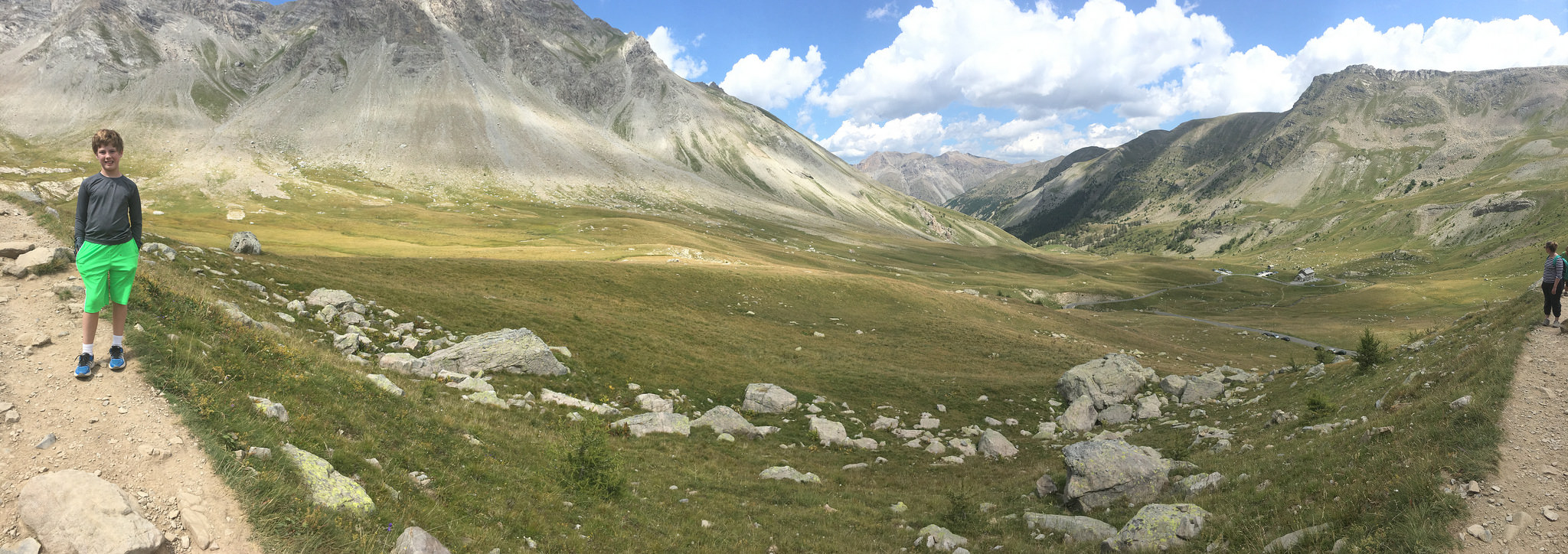 Charlie hiked up the Col de la Cayolle.